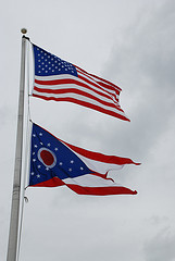 Ohio flag and American flag