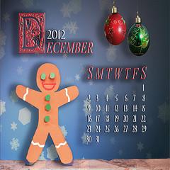 December calendar Christmas