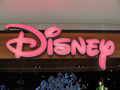 Disney store sign