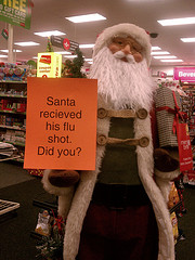 Santa and flu shot