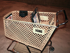 Vons grocery cart