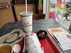 Quizno's drink and sub