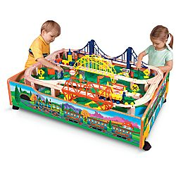 train set  sc 1 st  Families & Wooden Train Table and Trains Deal! Deals Families.com