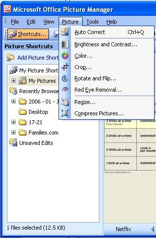 Picture Manager options