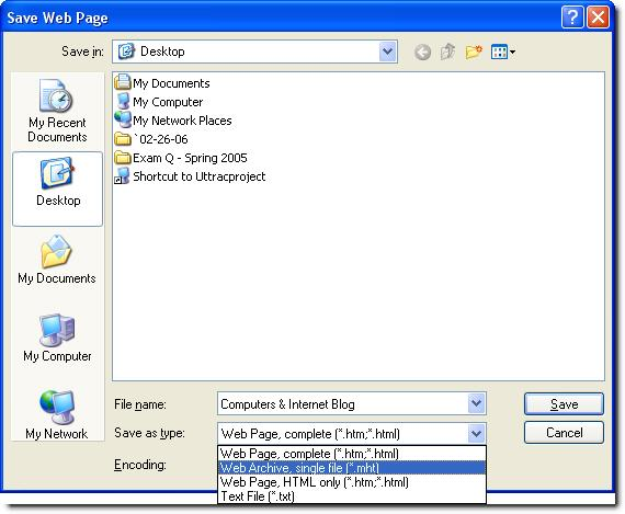 save entire web page as pdf