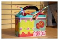 scrapbooking altered art lunch boxes