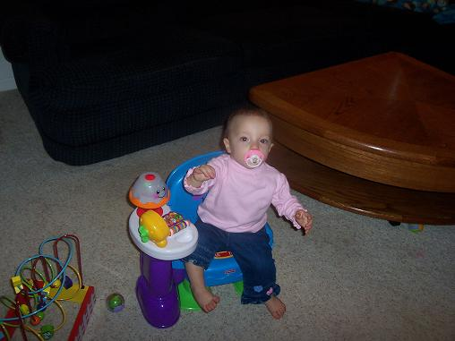 My Daughter Sitting In Her Chair