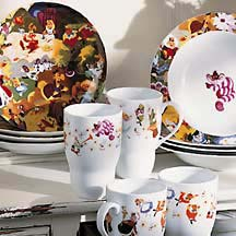alice in wonderland dinnerware