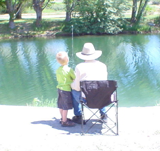 fishing with great-grandpa Parke