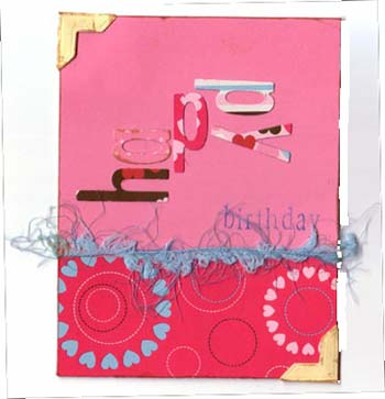 Handmade Birthday Card Idea Two Scrapbooking Families