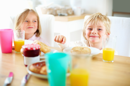 Kid breakfast table